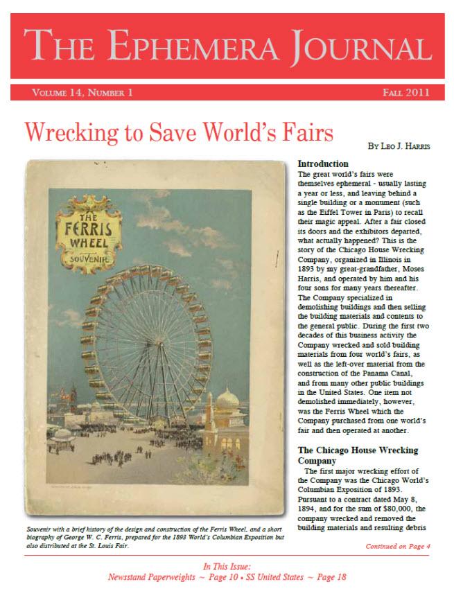 The Ephemera Journal - Fall 2011