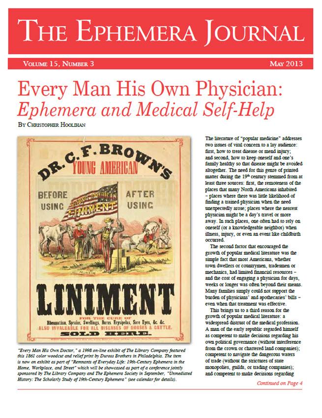 Ephemera Journal - May 2013