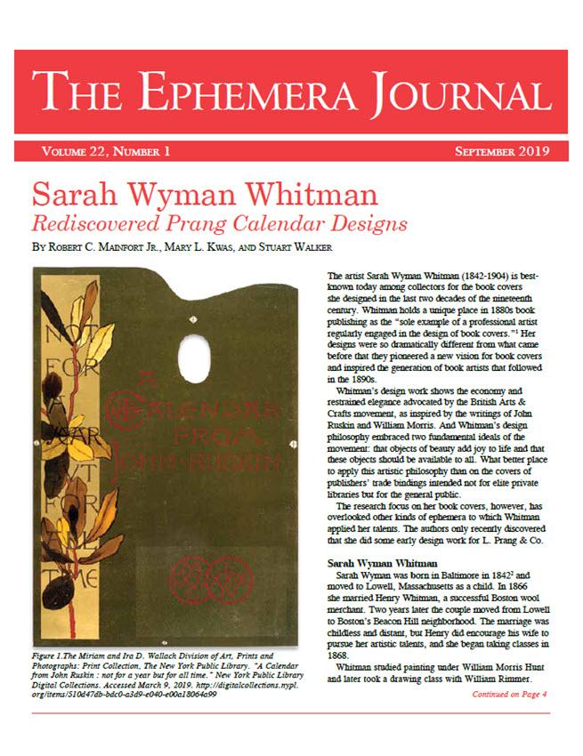 The Ephemera Journal - September 2019